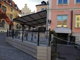 Boka 2020 - Brasseriet på Donners plats - vädersäkrad utebar för mingel. Uthyres per dag 07-13