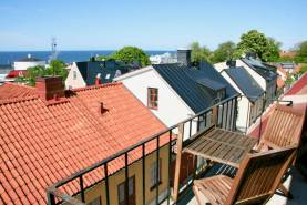 Boka 2019 - Paradvåning på Skeppargatan i Visby - 2 plan med utsikt över havet
